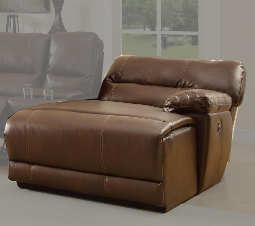 Blythe RSF Back Recliner Chaise - Brown - Bonded Leather
