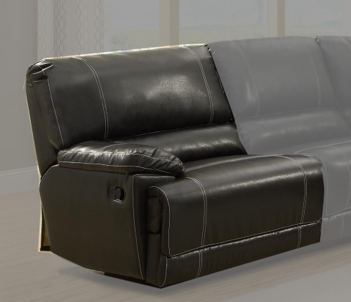 Cale LSF Recliner Love Seat - Black - Bonded Leather Match