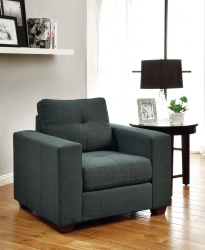 Ashmont Chair - Polyester - Dark Grey