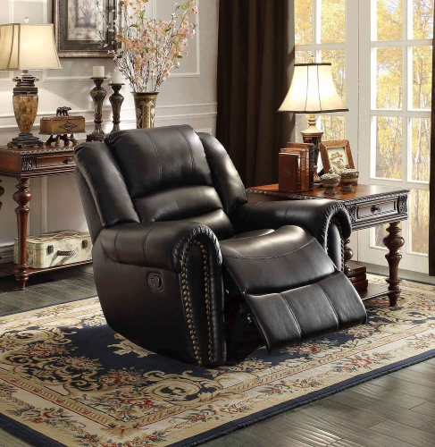 Center Hill Power Reclining Chair - Black