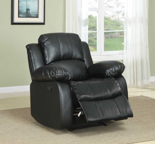 Cranley Reclining Chair - Black Bonded Leather