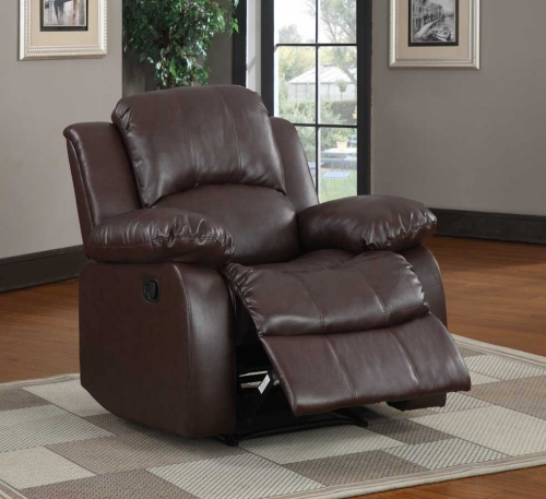 Cranley Reclining Chair - Brown Bonded Leather