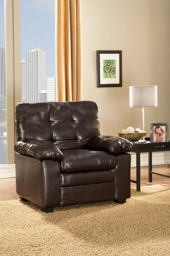 Charley Chair - Brown - Bi-Cast Vinyl