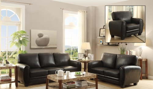 Rubin Sofa Set - Black