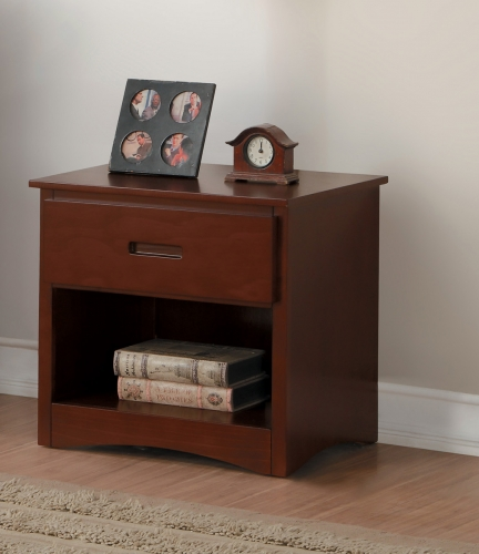 Rowe Night Stand - Dark Cherry
