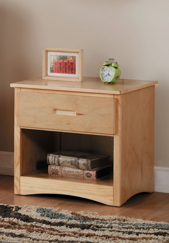 Bartly Night Stand - Natural Pine