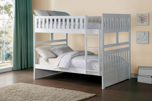 Galen Full over Full Bunk Bed - White