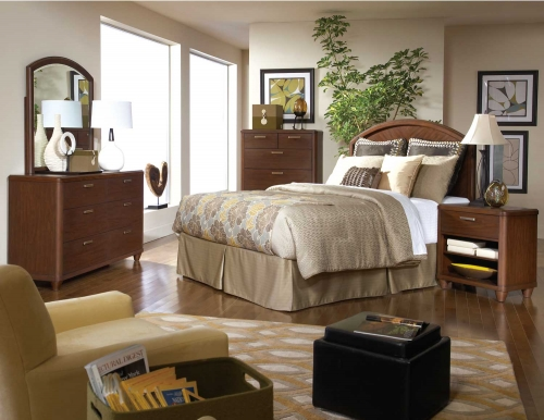 Beaumont Bedroom Set - Brown Cherry