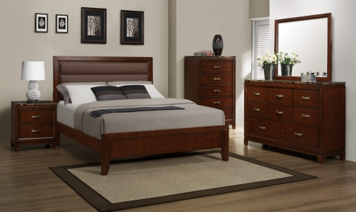 Ottowa Bedroom Set - Brown Upholstery