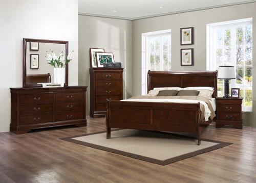Mayville Bedroom Set - Burnished Brown Cherry