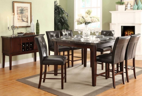 Decatur Counter Height Dining Set - Rich Cherry